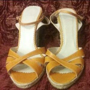 Zara orange Sandals
